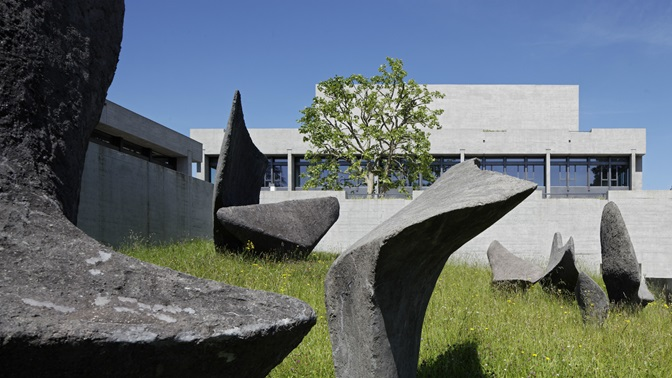 Art by Alicia Penalba in front of the University of St.Gallen (HSG) main building
